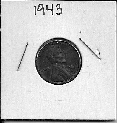 1943 P Lincoln Wheat Cent Wartime Steel Cent
