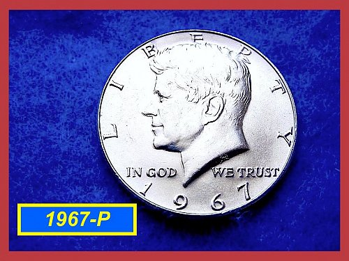 """1967  Kennedy Half Dollar ••""""DOUBL DIE OBVERSE""""  (DDO) •• (#1563"""
