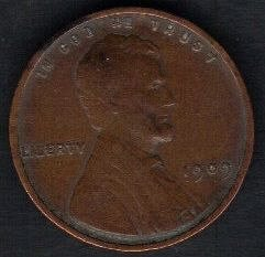 1909 P VDB LINCOLN WHEAT PENNY VF40 OR BETTER