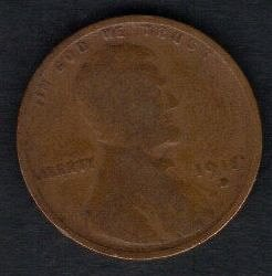 1915 D Lincoln Wheat Cent Small Cents Bronze Composite Penny F-VF