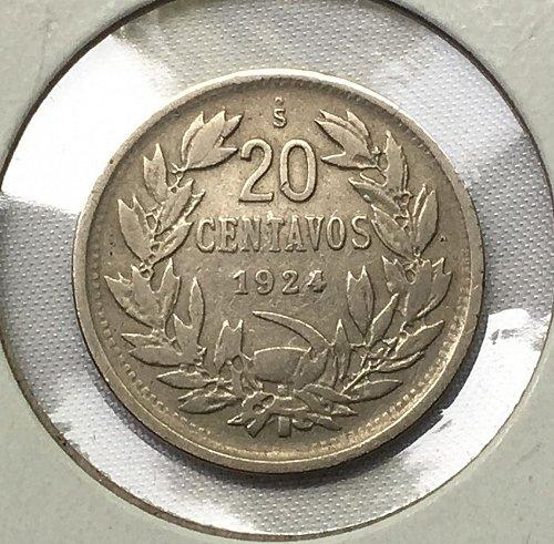 1924 Chile 20 Centesimos