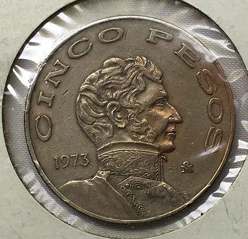 1973 Mexico 5 Pesos