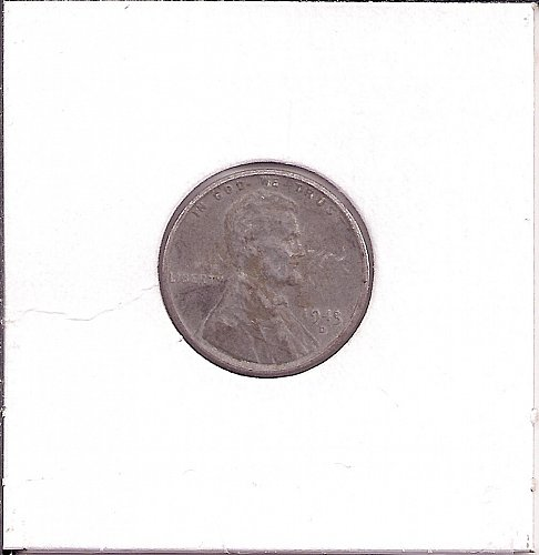 1943 D Lincoln Wheat Cent Wartime Steel Cent