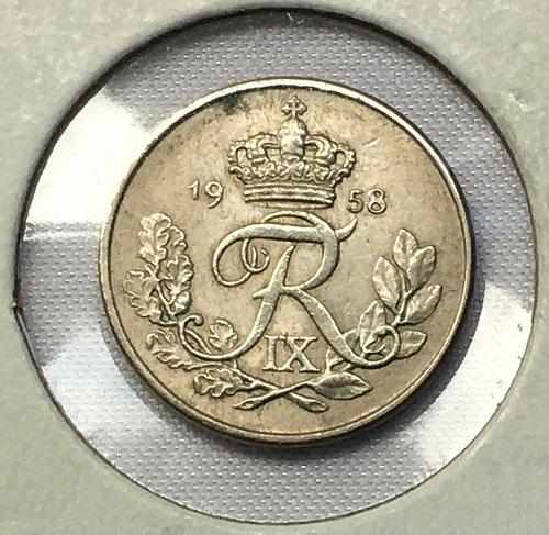 1958 Denmark 10 Ore