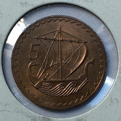 1963 Cyprus 5 Mils
