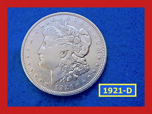 "1921-D Morgan Silver Dollar • ""Very Circulated""  • • (#5351)"