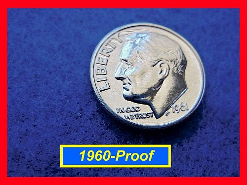 1961 PROOF ☆☆ Roosevelt Dime ☆☆ GEM Proof  ☆☆   (#3487)•
