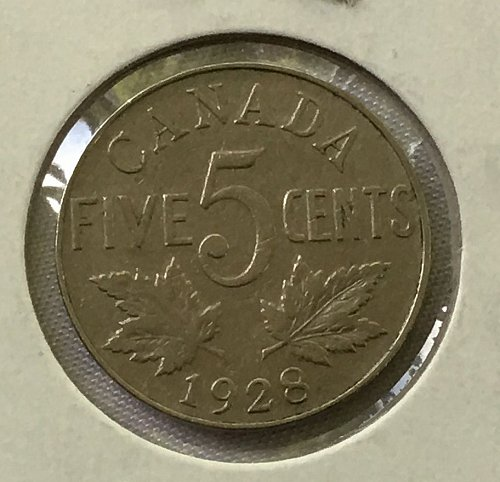 1928 Canada 5 Cents