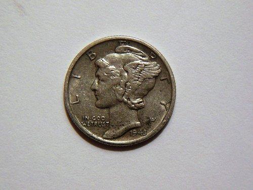 1943-P Silver Mercury Dime