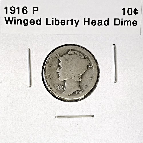 1916 P Winged Liberty Head Dime