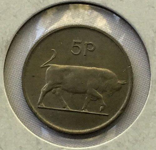 1986 Ireland Republic 5 Pence