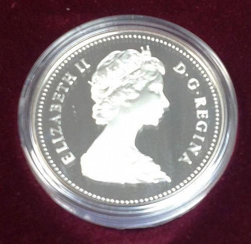 Canadian: 1983 Edmunton  Issue  :  Silver   /  WM-6