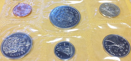 Canadian: 1971 Uncirculated Coin Year Set  /  WM-8