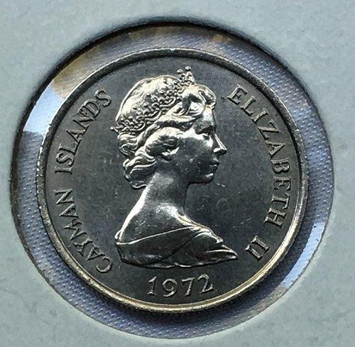 1972 Cayman Islands 10 Cents