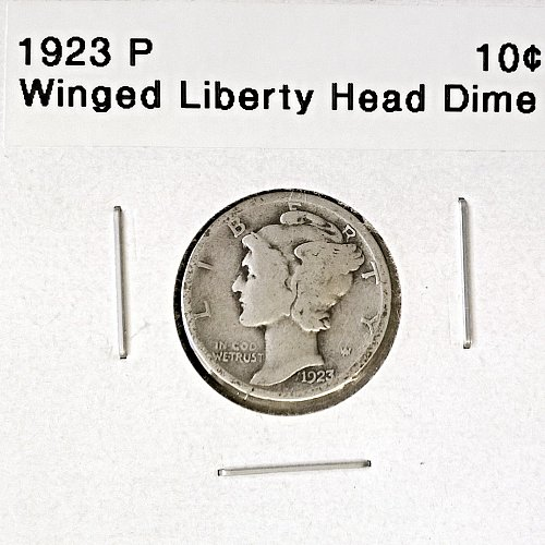 1923 P Winged Liberty Head Dime - 4 Photos!