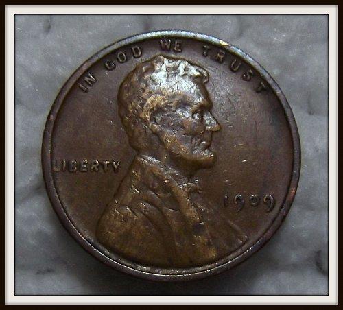 1909 V.D.B. 1c Brown Lincoln Wheat Cent (VF)
