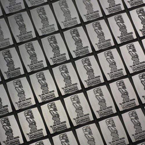 2 BAR LOT 1 GRAM COOK ISLANDS VALCAMBI  .999 FINE SILVER BARS FREE SHIPPING