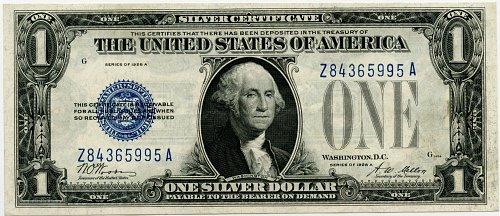 1928-A $1.00 Silver Certificate F1601 Scarce Block Z-A Almost Uncirculated++