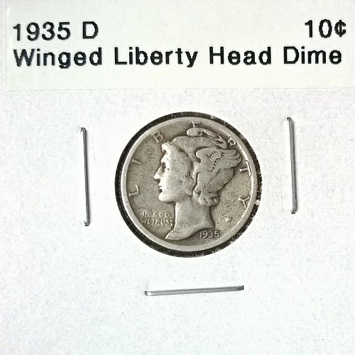 1935 D Winged Liberty Head Dime - 4 Photos!