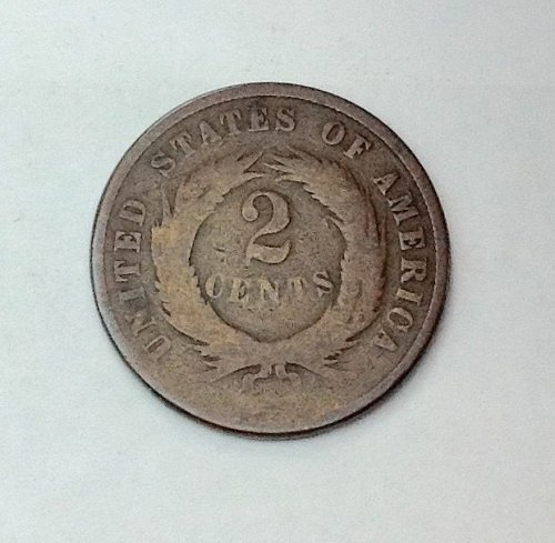 1871 P Two Cent Piece