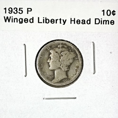 1935 P Winged Liberty Head Dime - 4 Photos!