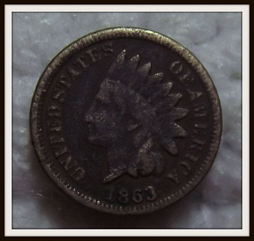 1863 1C Indian Head Cent