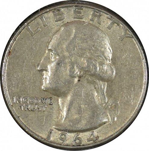 1964 D Washington Quarter, (Item 336)