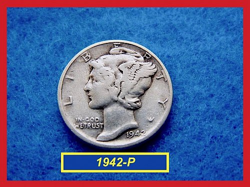 1942-P  Mercury Dime   ☆  CIRCULATED  ☆   (#3495)