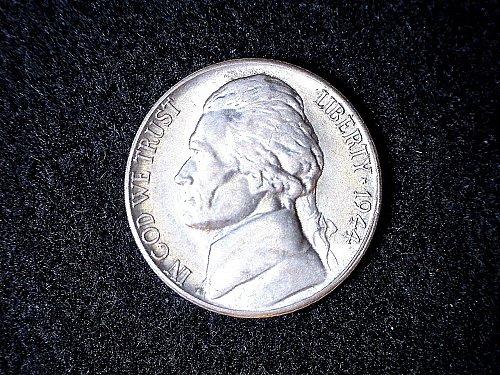 1944-S Jefferson War Nickel- AU