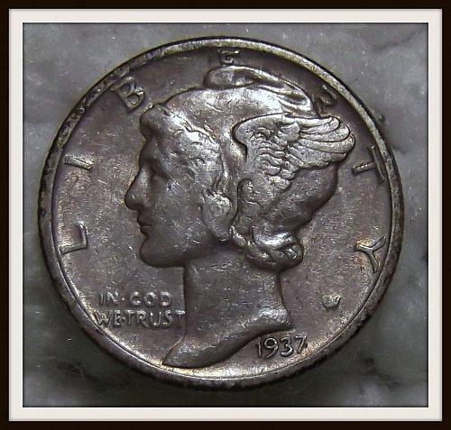 1937 - P Mercury (Liberty Head) Silver Dime