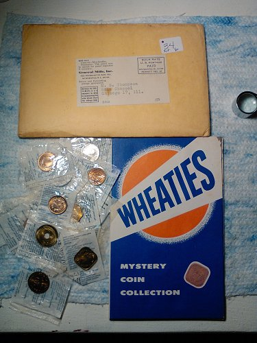 1950'S WHEATIES PROMOTION - MYSTERY COIN COLLECTION
