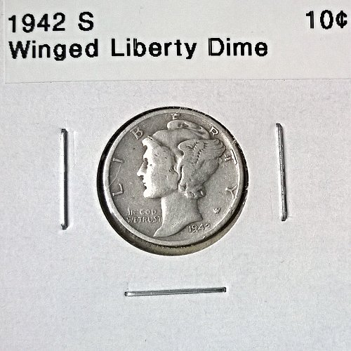 1942 S Winged Liberty Head Dime