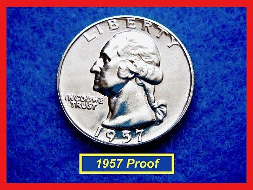 PROOF  1957 ☆ Washington Quarter  ☆ Beautiful Gem Proof  (#2573)