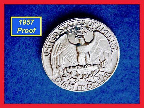 PROOF  1957 ☆ Washington Quarter  ☆ Beautiful Gem Proof  (#2572)•