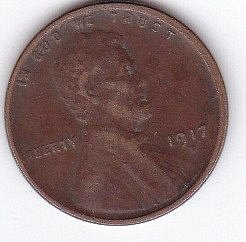 1917 D..ONE CENT FINE COIN
