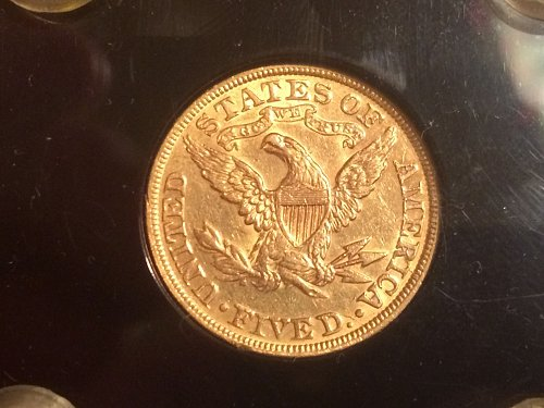 1895-P $5 GOLD LIBERTY HALF EAGLE   ~GORGEOUS~  AU GEM BRILLIANT