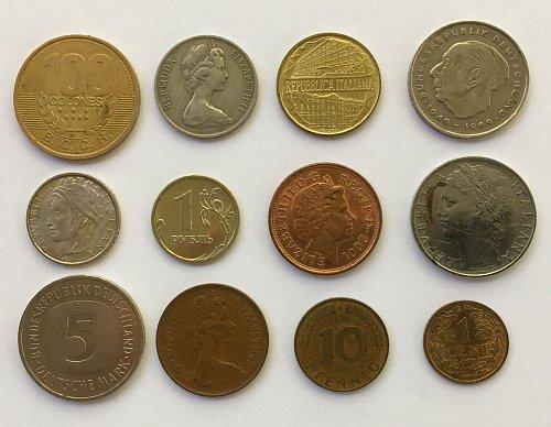 Foreign/World Coins Set #3 - 12 Coins
