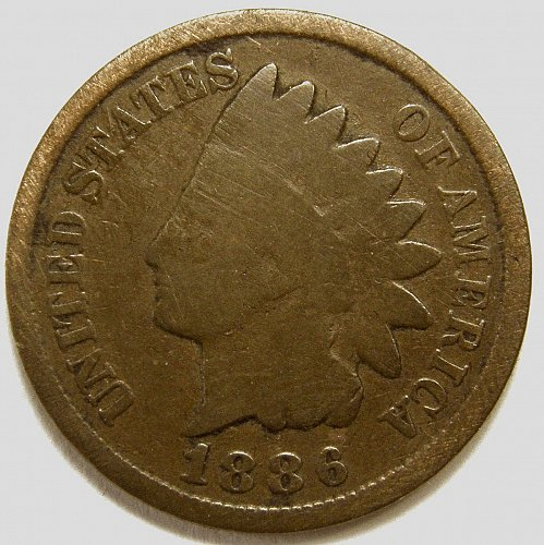 1886 P Indian Head Cent #4  Type 2