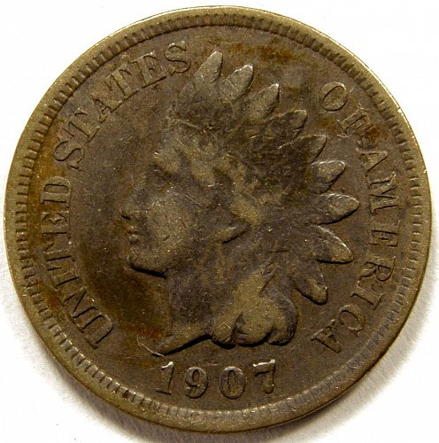 1907 Indian Head Cent #18