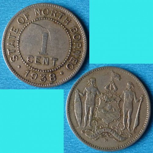 British North Borneo 1 Cent 1938 km 3​