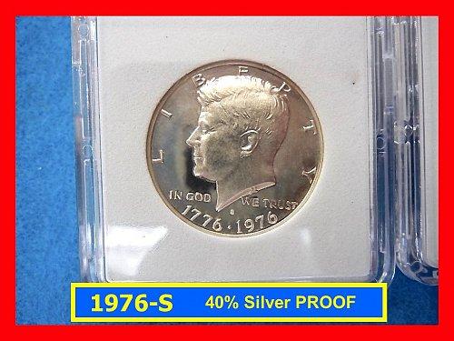 1976 (40% Silver) PROOF Kennedy Half Dollar      (#1583ad)