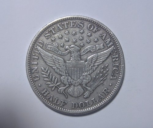 Half Dollar Barber 1904-P About uncirculated [AU-50]