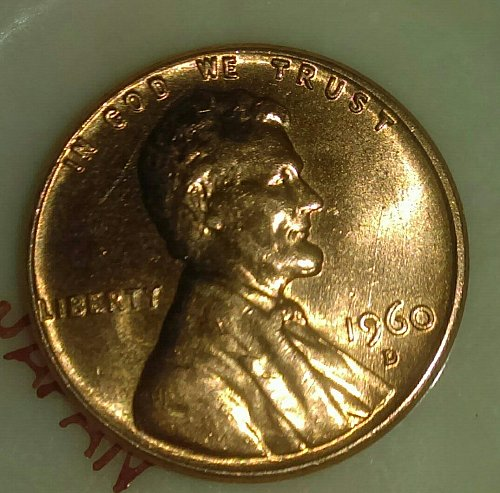 1960D Lincoln cent/penny