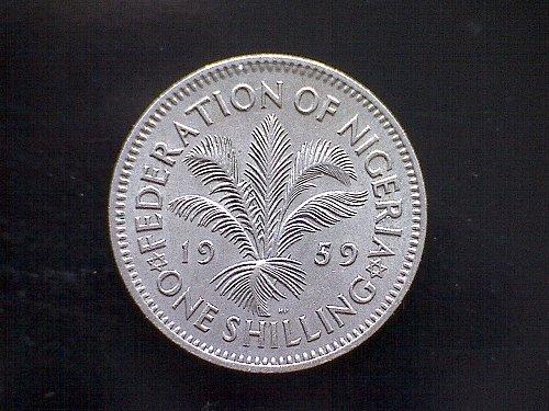 1959 NIGERIA ONE SHILLING