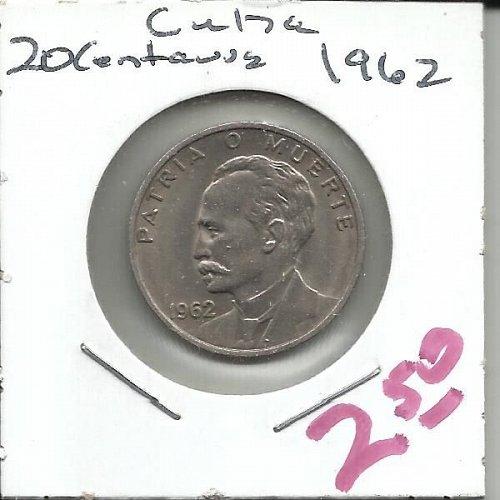 1962  Cuba 20  Centavos