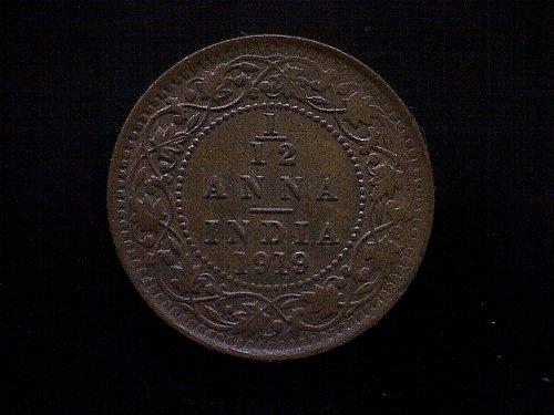 1919C INDIA - BRITISH 1/12 ANNA 1-PIE