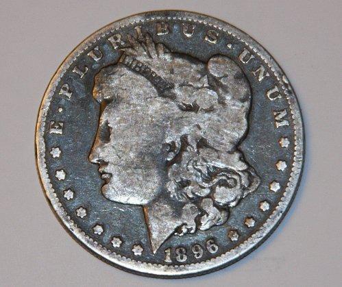 COLLECTIBLE U.S. 1896-O MORGAN SILVER DOLLAR G04 GOOD....GREAT LOOKING COIN..