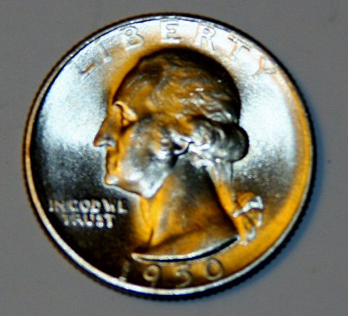 COLLECTIBLE 1950-S WASHINGTON QUARTER MS64-MS65 FLAWLESS.....