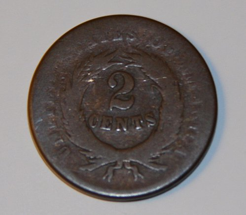 COLLECTIBLE U.S. 1864 2C COIN 2 CENT COIN IN G06 CONDITION.....