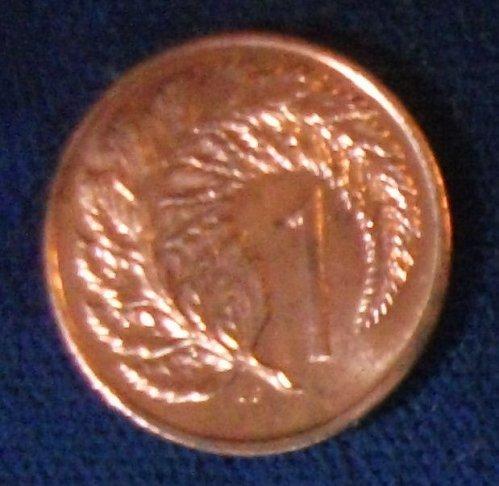 1973 New Zealand Cent UNC